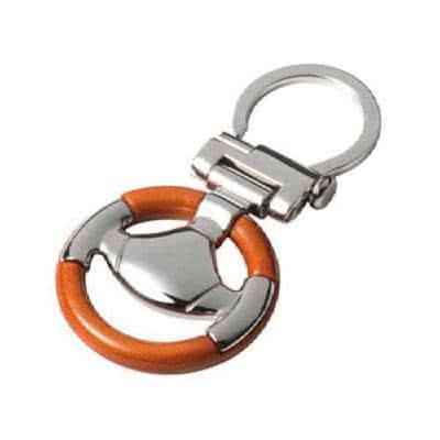 Porte clés en bois et métal design volant