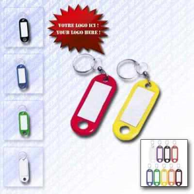 Porte-clé porte-étiquette en plastique