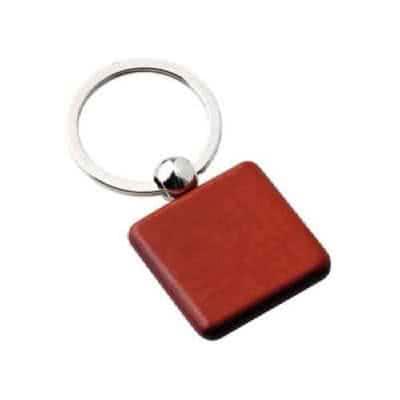 Porte clés en bois carré