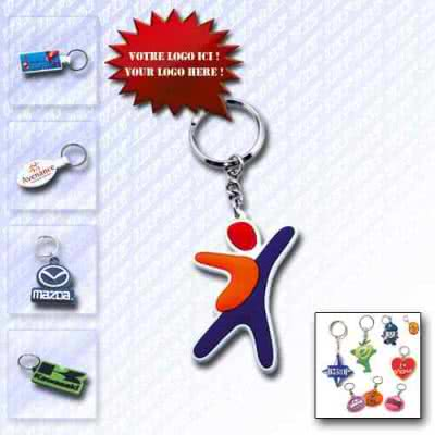 Porte-clé de luxe design logo PVC