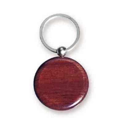 Porte clés médaillon en bois