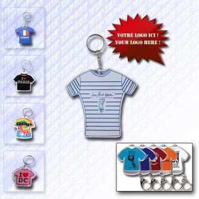 Porte-clé T-shirt PVC