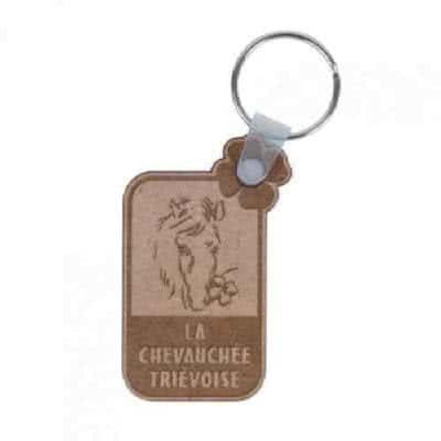 Porte clés en liège avec logo embossé