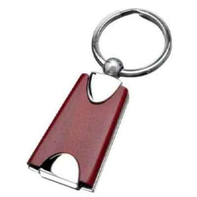 Porte clés en bois et métal élégant